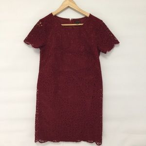 Ann Taylor lace mid length short sleeve dress
